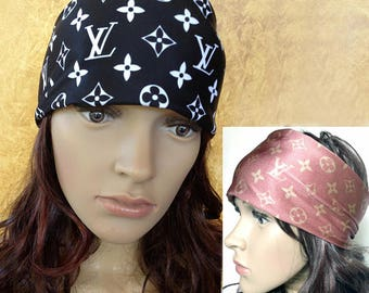 Stretch Headband Buff or infinity scarf with LV design.