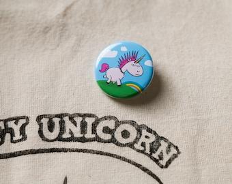Barry punk Unicorn badge