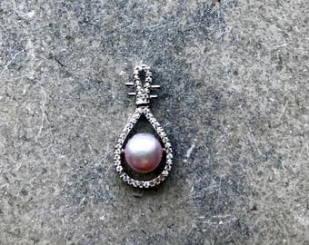 925 Silver Pendant  Pipa Light Purple Freshwater Pearl
