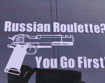Russian Roulette Car Decal