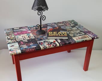 book coffee table furniture. cool comic book coffee table please see full description for shipping fee furniture