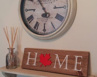 Canada Home Sign, Home Decor, Canada 150, Canada Day, Wood Sign