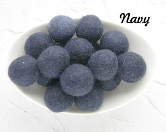 25 mm Navy Felt Balls 2.5 cm Wool Felt Balls Wool Navy Pom Poms Party decoration Baby shower DIY mobile DIY Mobile Diy Necklace