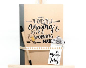 Handlettered notebook set
