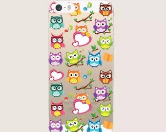 Little night owls design case. iPhone 7. Soft thin cover.