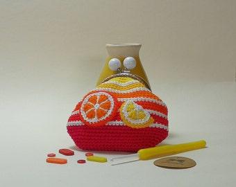 Citrus Sumer Crochet Coin Purse