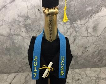 Graduation Champagne Cap & Gown
