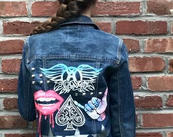 Custom Handpainted Jean Jacket