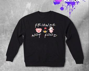 Vegan Friends TV Show Sweatshirt Gift Idea Friends Friend Gift Friends TV Show Printed Sweatshirt Tumblr 90s Sweatshirt Vegan Gift BF2020