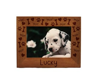 Personalized Picture Frame, Dog Picture Frame, Pet Picture Frame, Personalized Photo Frame, Custom Photo Frame, Pet Gift, Gift, PTPF002