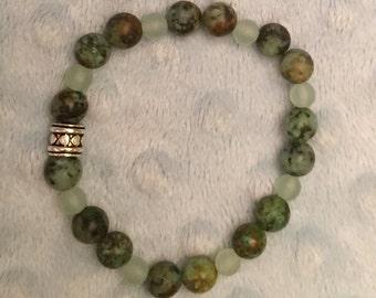 Crystal Bracelet - Jade & African Turquoise