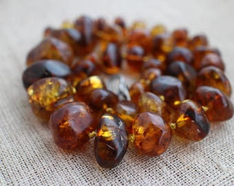 Baltic Amber necklace  84.35g