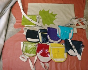 Small handcrafted leather purses