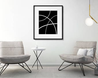 Black and White Art, Abstract Art, Minimalist Art, Contemporary Art, Modern Art, large abstract art