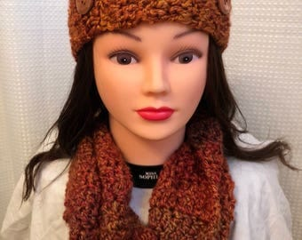 scarf and headband set