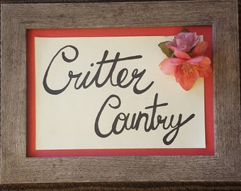 Critter Country Table Marker