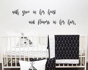 "custom wall decal for ioanawonser - 6""x25"""
