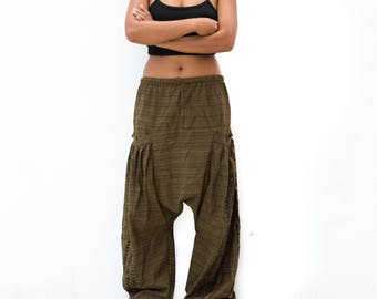 Drop Crotch Pants men women, Harem Pants, Boho Pants, Yoga Pants, Casual Pants, Buddhist Om Pants, Baggy Pants, men, women