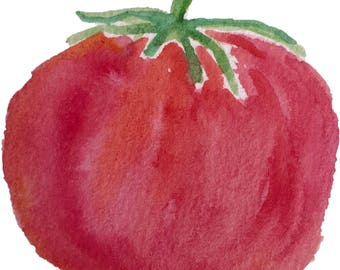 Watercolor Tomato - Printable Digital Clipart