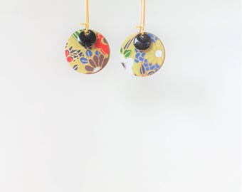 The little ' Lil papers: washi paper and round earrings