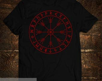 T-shirt Aegishjalmur Viking Futark runes