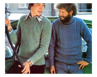 Mens Cable Knit Sweaters Knitting Pattern