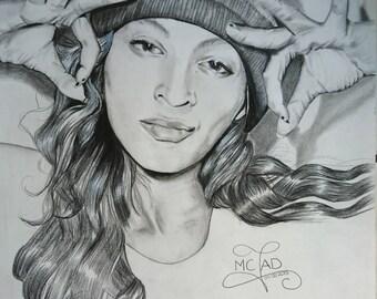 Portrait. Beyonce Queen Bee