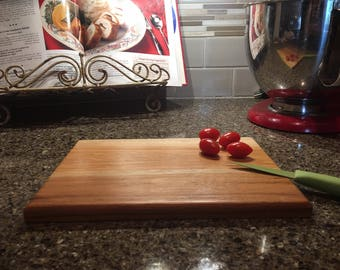 Hickory Cheese Board, Hickory Cutting Board, Wooden Cutting Board 7 1/4 x 10 inches