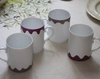 Porcelain tea, hot chocolate or tea mugs