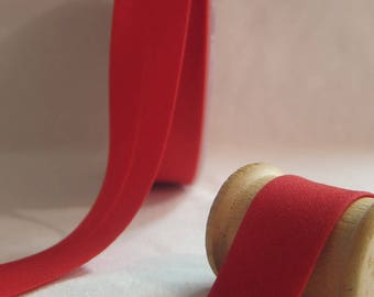 Red cotton bias folded 20 mm 10 mm