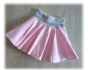 Skirt patineuse gabardine and rose - 10 years