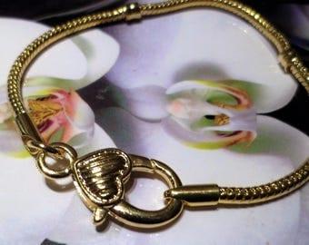 1 bracelet 20 cm clasp gold
