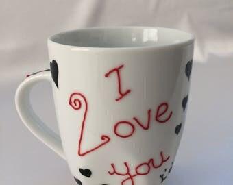 "Cup / Mug ""I love you"""