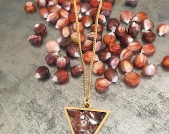 Arrow of Corn Necklace - Z.Harvest Gems - Unique pendant made of corn.