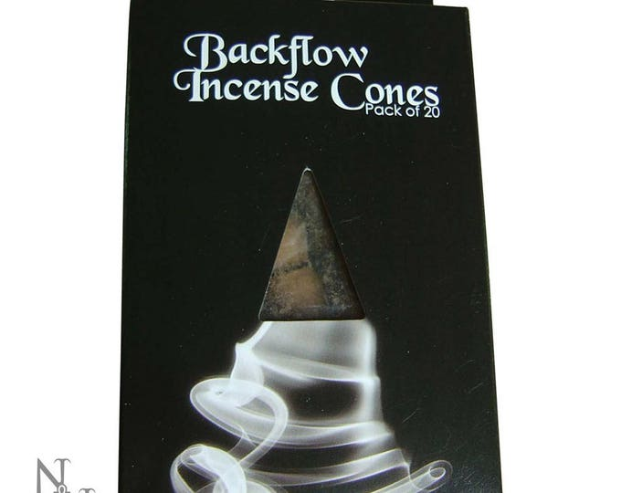 Backflow cones Sandalwood - backflow baphomet altar witch wicca gothic incense sandalwood ritual