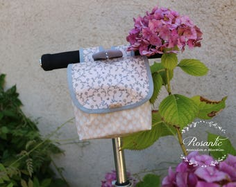 Bicycle and scooter romantic child/baby pink and flowers bag