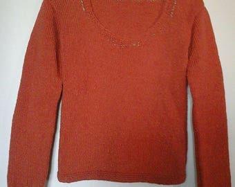 """Cinnamon"" knitted handmade sweater"