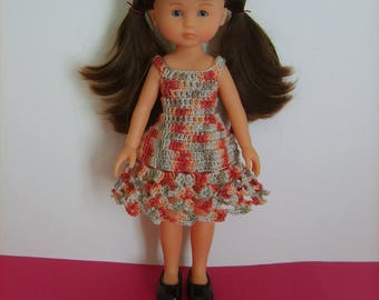 Dress crocheted doll 33cm