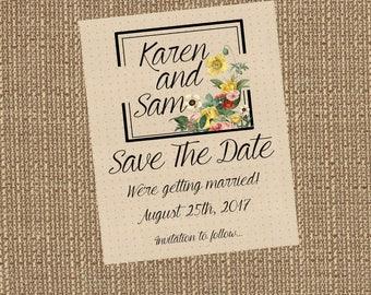 Printable Vintage Vibe Save The Date