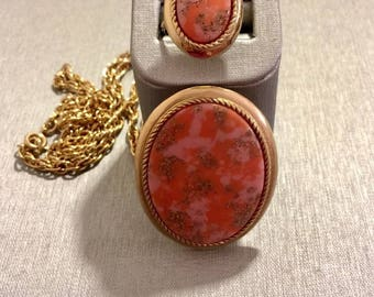 Sarah Coventry Coraline Ring & Necklace/Pendant/Brooch 1974