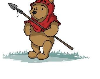 Wicket Pooh Illustration