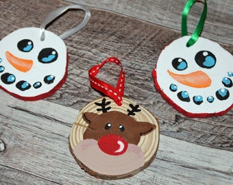 Wooden Christmas Ornament (Set of 2)