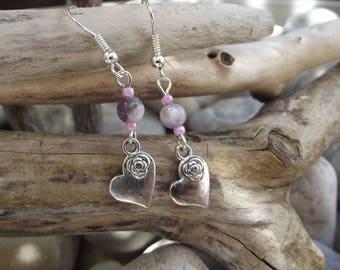 Stone - Amethyst Lavender (A 250116) earrings
