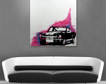 "Unique painting on Canvas 3D / ""Shelby GT"""