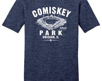 Comiskey Park 1910 Baseball Tee Shirt - Past Home of Your Chicago White Sox