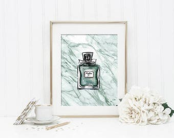 J 39 Adore Dior Perfume Drawing Print Pen And Ink With