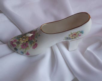 Miniature Fine English Bone China Shoe