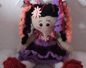 Crocheted wool doll