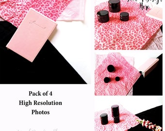 Styled Stock Photo Pack of 4| Pink & Black feminine Styled Stock Photos | Styled Stock for Bloggers| Photos for blog| Pretty Photos