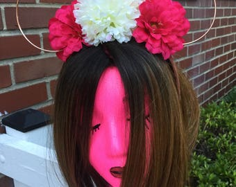 Pink and White Flower Mouse Ears